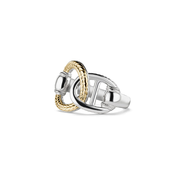 Vienna Interlocking Ring with 18K Gold