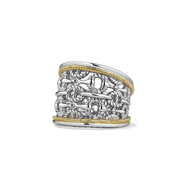 Vienna Wide Band Ring with 18K Gold
