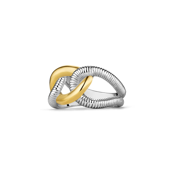 Eternity Interlocking Link Ring with 18K Gold