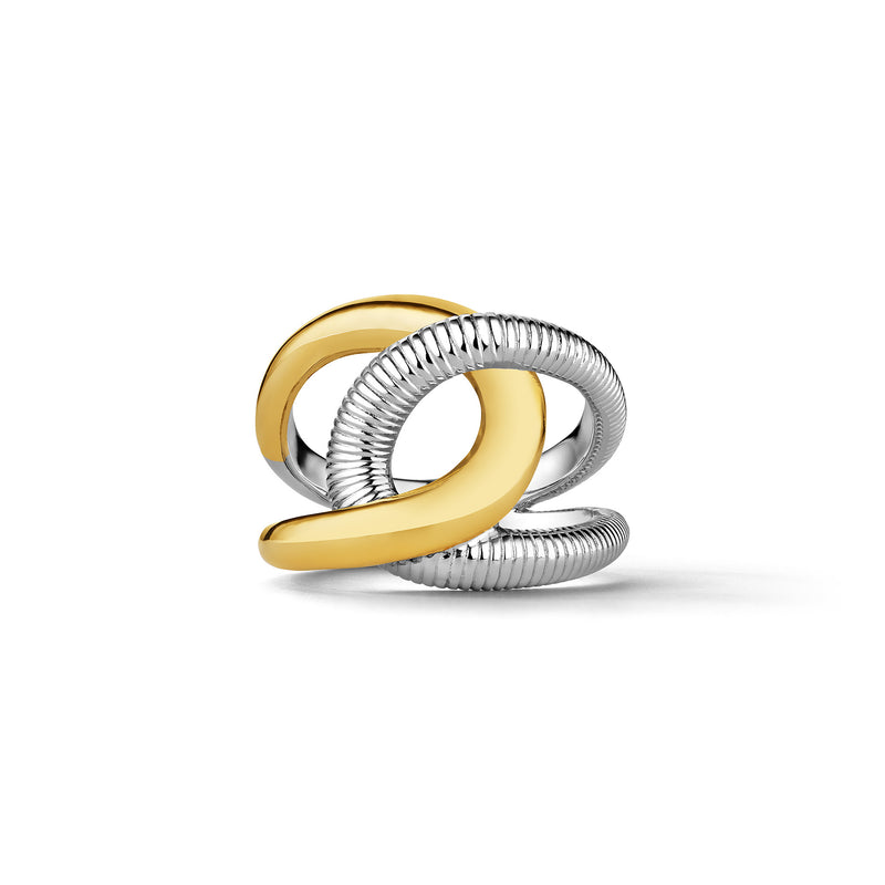Eternity Embrace Ring with 18K Gold