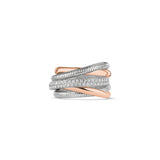 Eternity Five Band Highway Ring with 18K Rose Gold and Diamonds