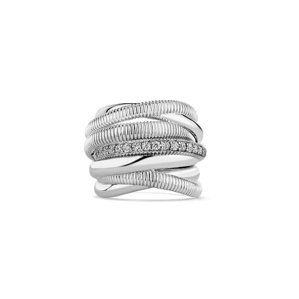 Eternity Seven Band Highway Ring with Diamonds