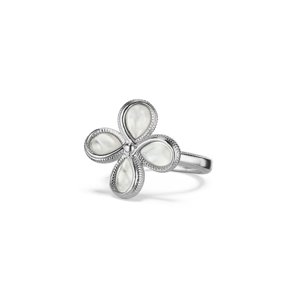 Jardin Flower Ring with Mother of Pearl