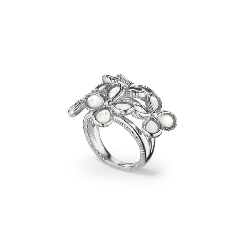 Jardin Bouquet Ring with Mother of Pearl