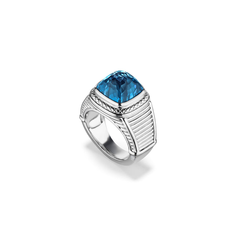 Cassandre Ring with London Blue Topaz