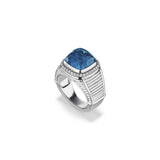 Cassandre Ring with London Blue Topaz and Diamonds