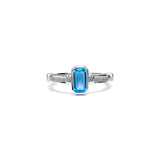 Adrienne Stack Ring with Swiss Blue Topaz