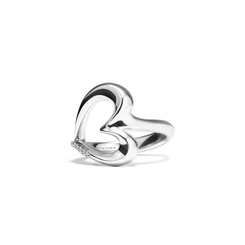 Eros Open Heart Ring with Diamonds