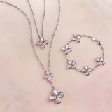 Jardin Flower Pendant Necklace with Pink Mother of Pearl