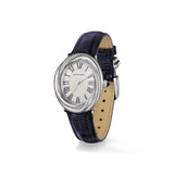 Eternity Watch with Mother of Pearl, Sapphire and Midnight Genuine Crocodile Strap