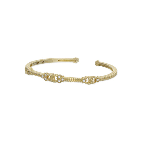 RIPKA Juliette Triple Link Cuff with Bezel Set Diamonds