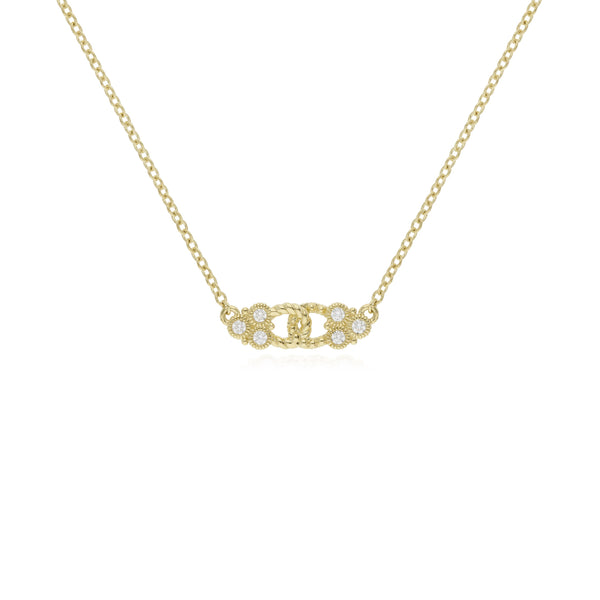 RIPKA Juliette Linked Center Necklace with Diamond Gothics