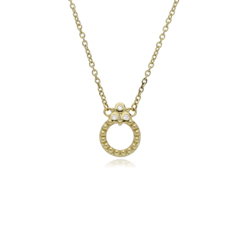 RIPKA Juliette Circle Pendant with Diamond Gothics