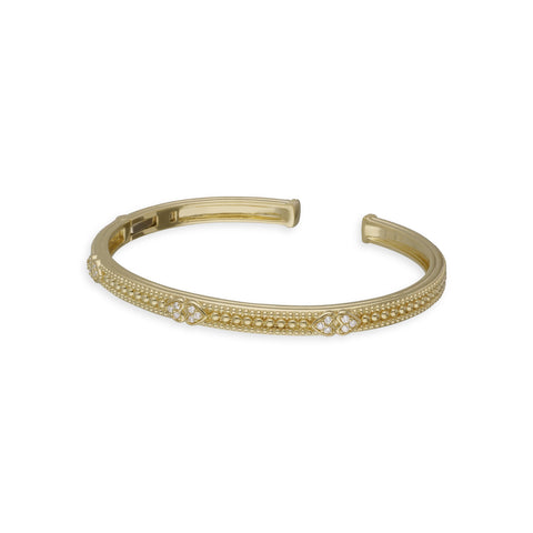 RIPKA Romance Cuff with Double Pavé Hearts