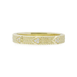 RIPKA Juliette Band Ring with Pavé Hearts