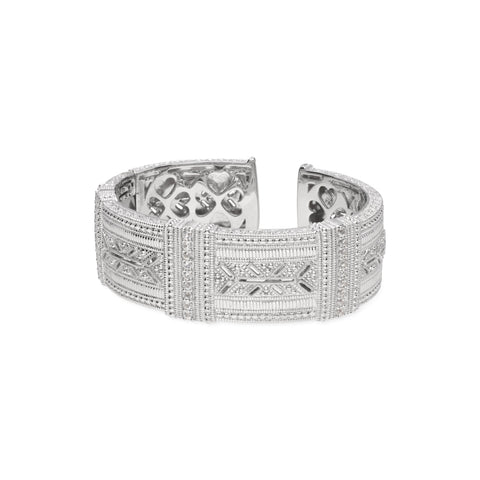 RIPKA Estate Wide Cuff with White Topaz Accents