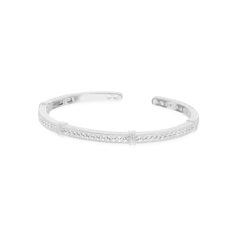 Estate Narrow White Topaz Pavé Cuff