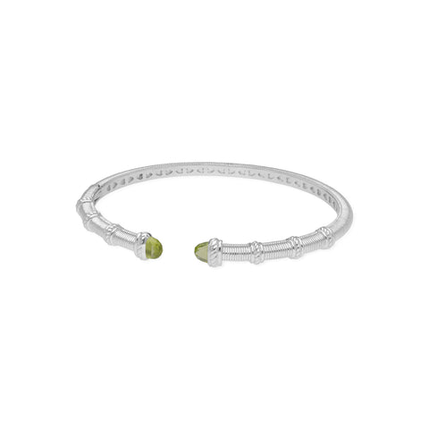 Estate Narrow Upside Down Cuff with Peridot Tips