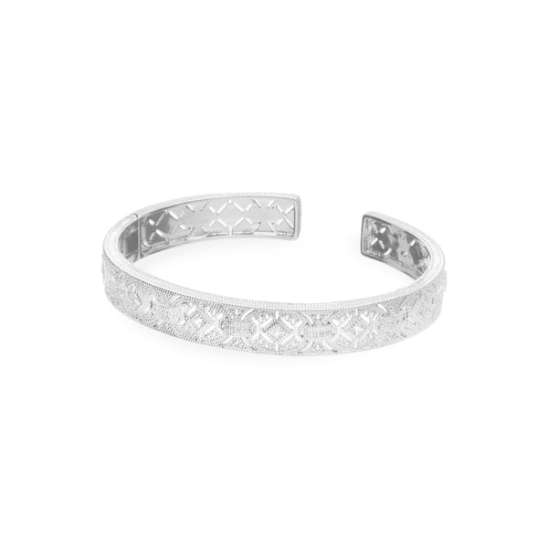 Estate White Topaz Filigree Link Cuff