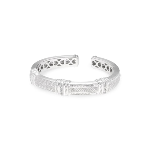 RIPKA Estate Pia Cuff with White Topaz Vertical Sections