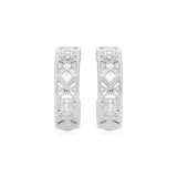 RIPKA Estate Small White Topaz Filigree Hoop Earrings