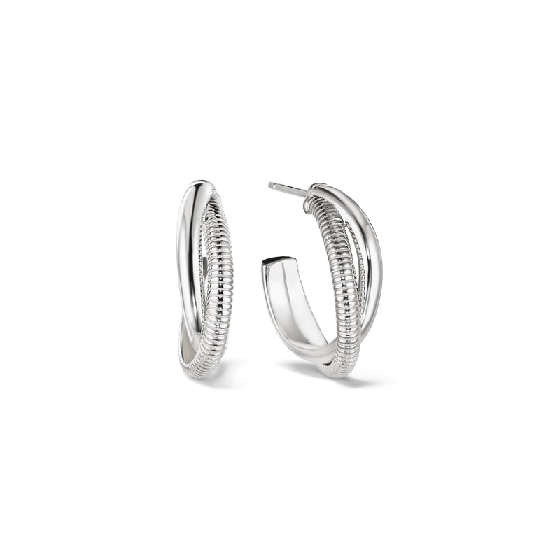Eternity Small Round Hoop Earrings