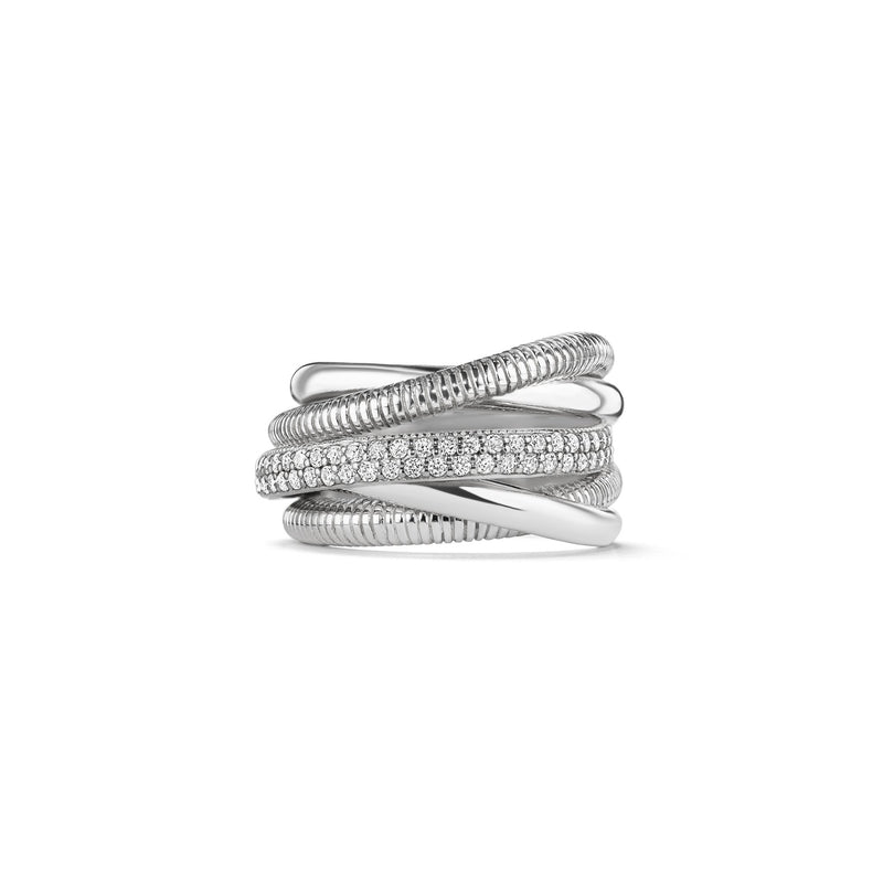 Eternity Five Band Highway Ring with Diamonds
