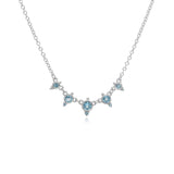 RIPKA Santorini Swiss Blue Topaz Baby Dew Drop Necklace
