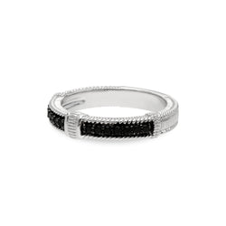 Estate Black Spinel Pavé Band Ring