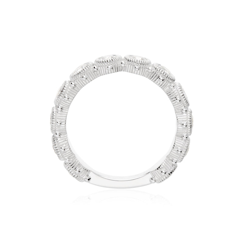 Little Luxuries Bezel Set White Topaz Gemstone Ring