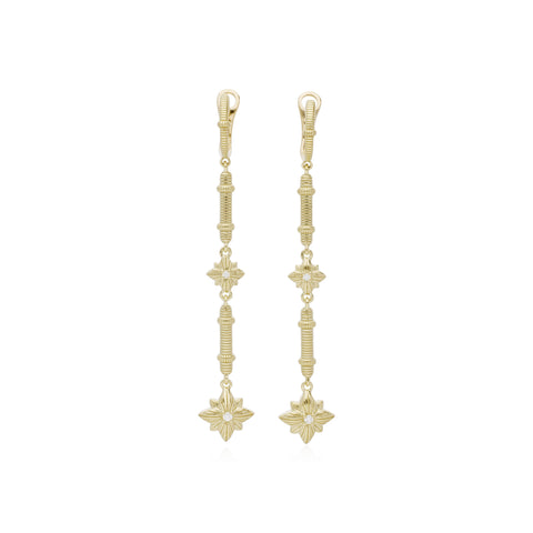 RIPKA Starlight Linear Earrings with Diamond Accents