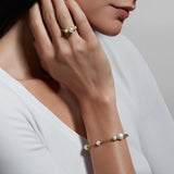 Shima Bracelet with Freshwater Pearls and Diamonds in 18K