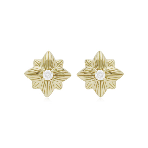 RIPKA Starlight Single Star Stud Earring with Diamond Accents