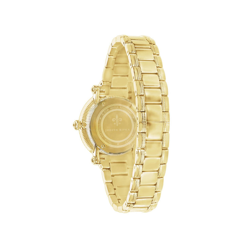 Judith Ripka Bezel Set Gold Tone Summit Watch