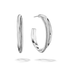Eternity Round Hoop Earrings