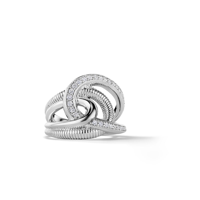 Eternity Intertwined Ring with Cultured Diamonds