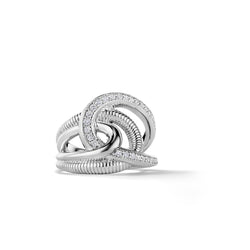Eternity Intertwined Ring with Diamonds