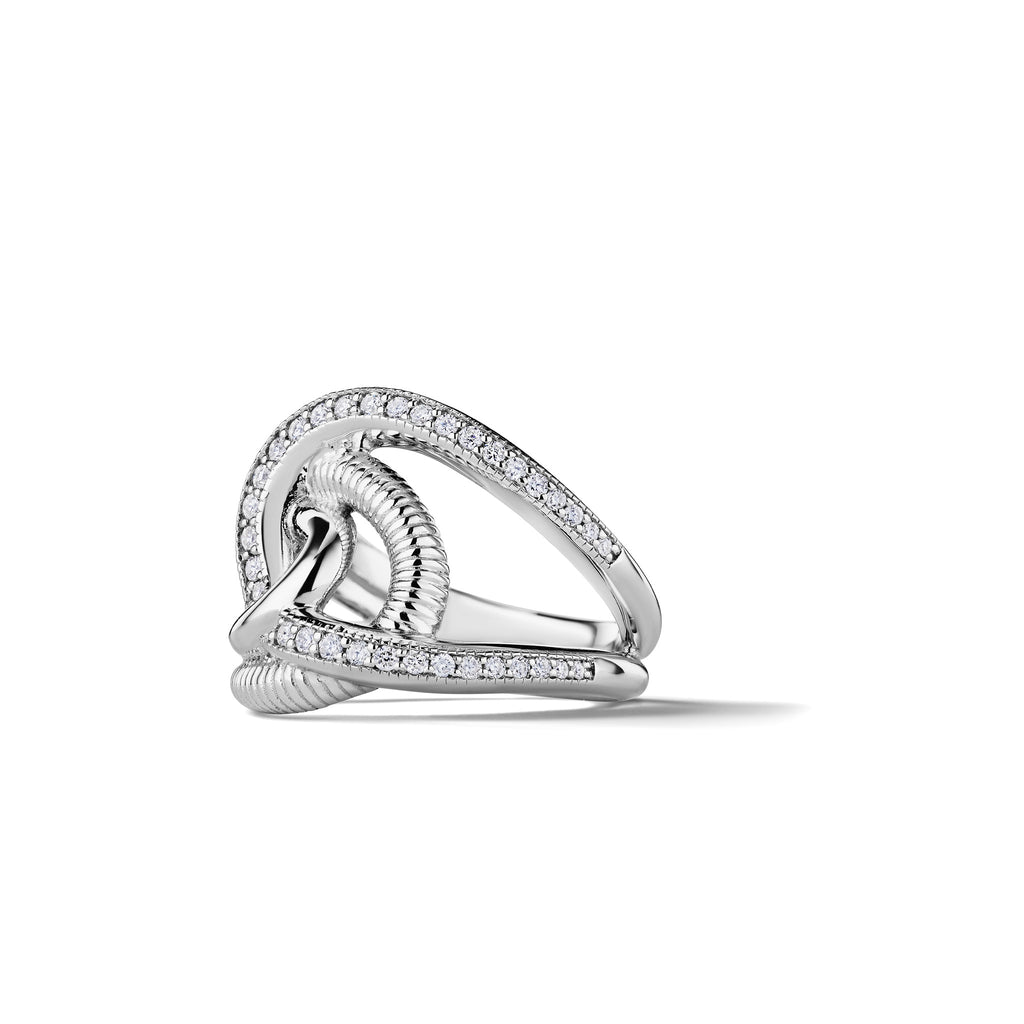 Eternity Intertwined Ring with Man Made Diamonds
