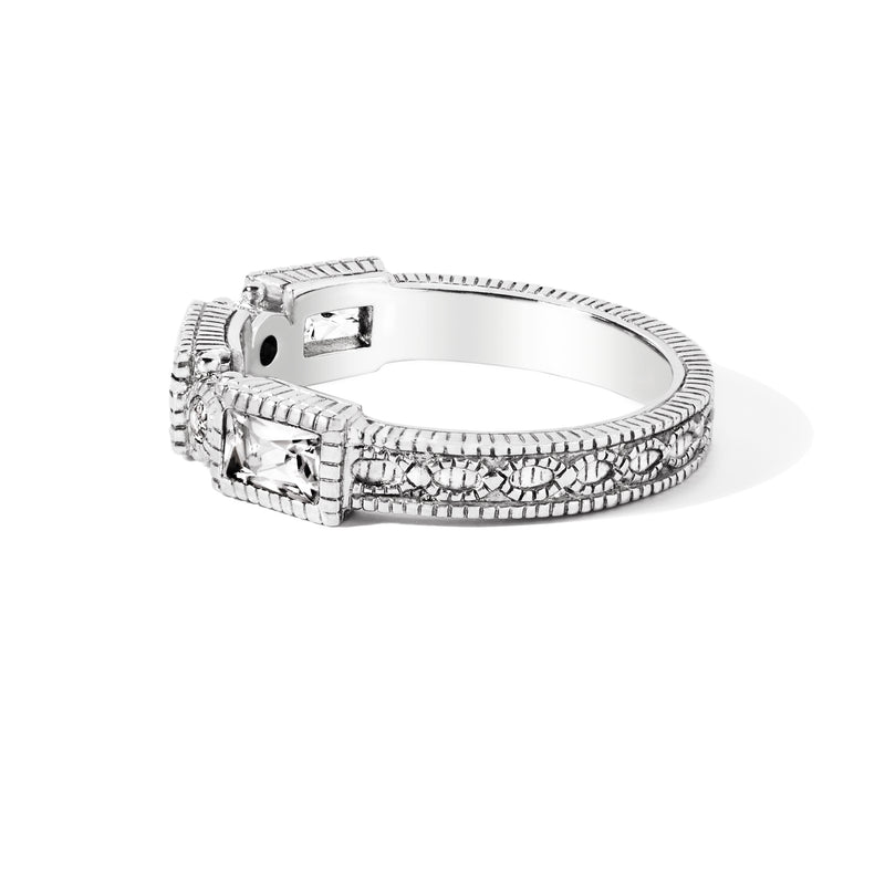 Estate White Topaz Band Ring