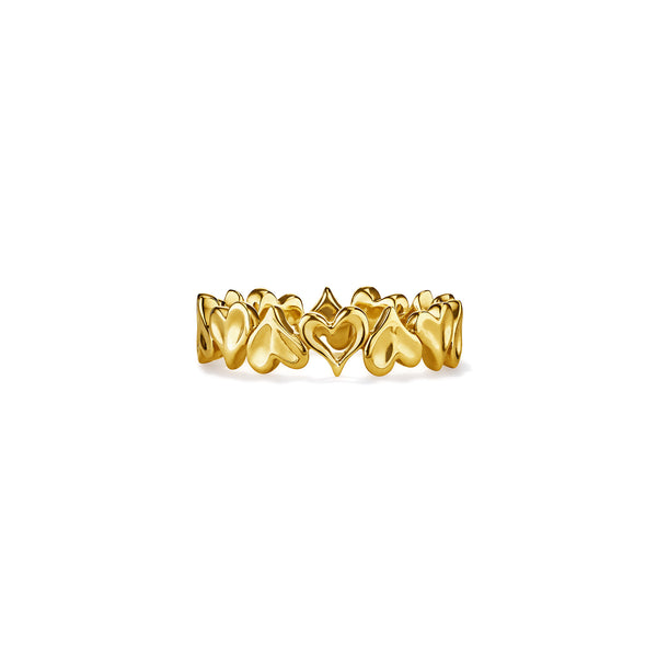 Eros Multi Heart Band Ring in 18K
