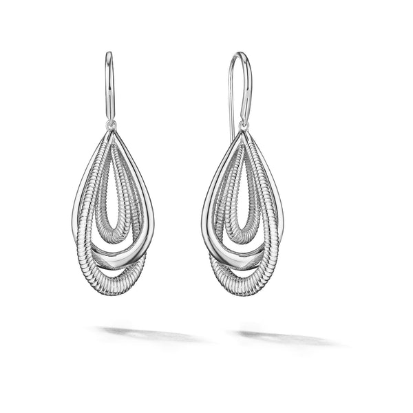Eternity Small Teardrop Earrings