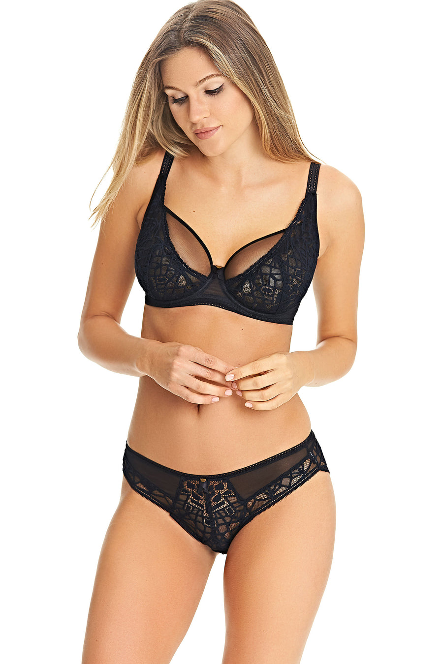 Freya - Soiree Lace Black High Apex Bra