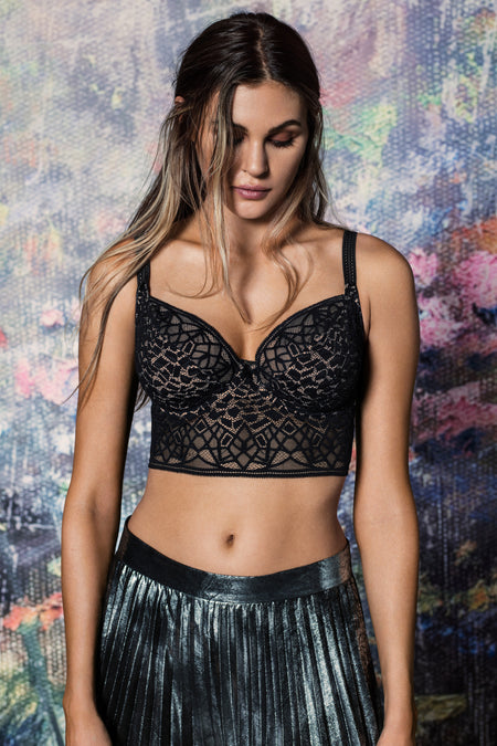 Soiree Lace Black Underwire Bralette