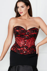Beautiful Red Couture Corset