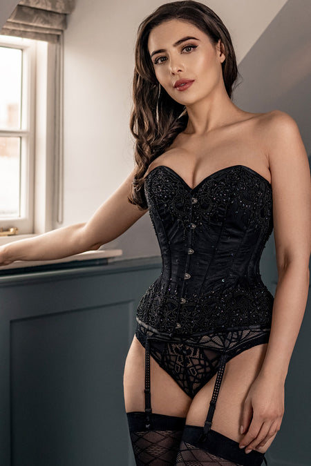 Black Satin Couture Corset