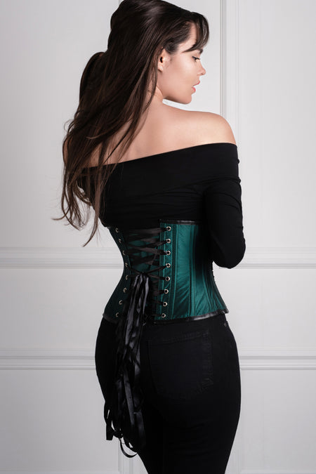 Embellished Couture Underbust Corset Waspie In Green