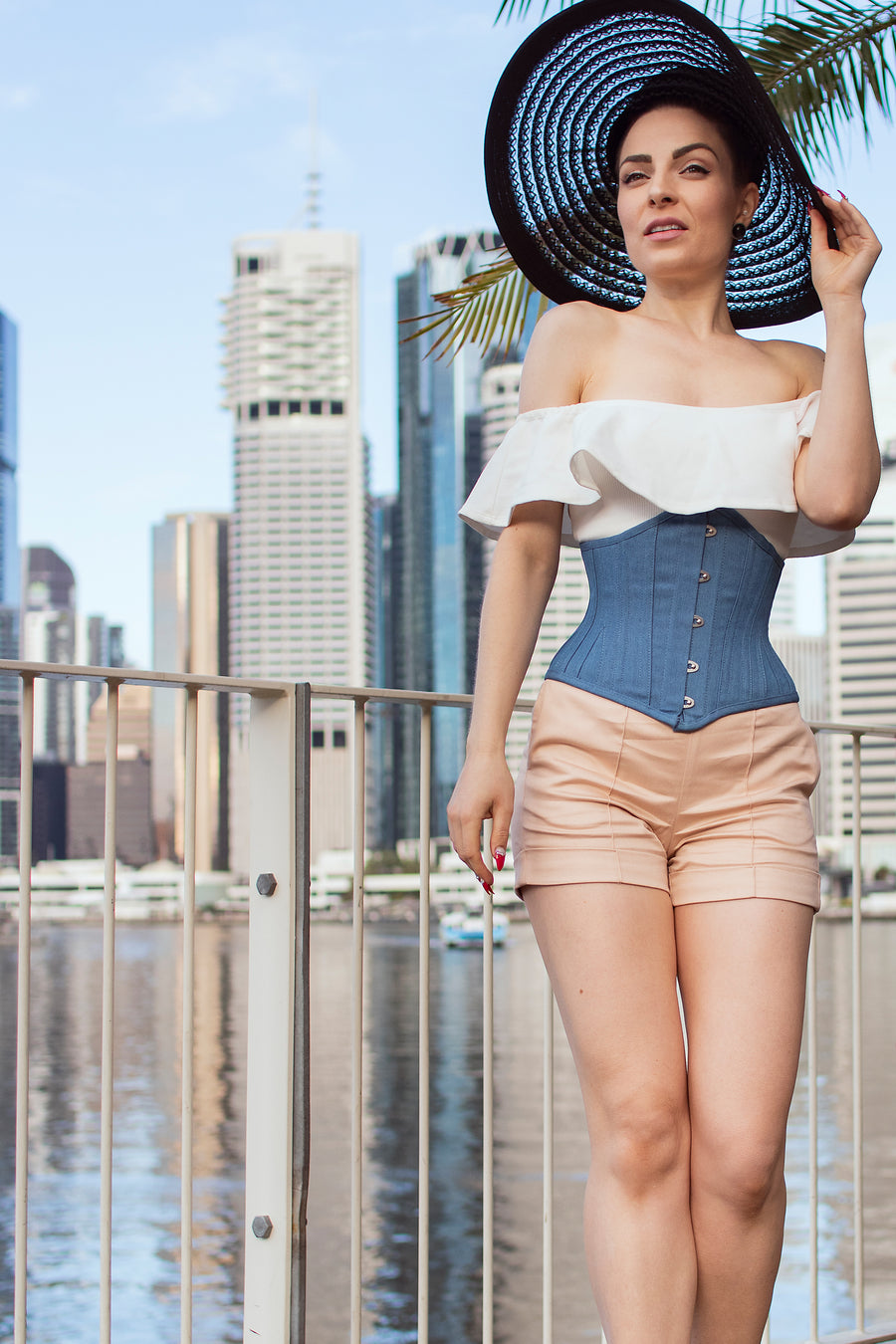 Denim Cotton Expert Waist Training Waspie Corset