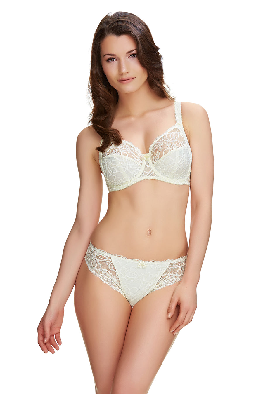 Jacqueline Lace Ivory Uw Full Cup Bra With Side Support