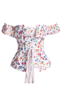 Floral Ditsy Cotton Corset Top