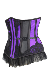Zipped Burlesque Underbust Corset